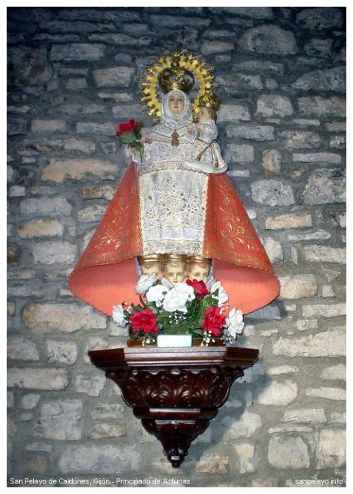 La Santina en San Pelayo de Caldones