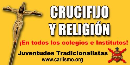 Crucifijo y Religión en todos los colegios e institutos
