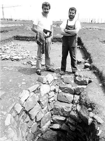 José Luis Maya, izquierda, y Francisco Cuesta, en la Campa Torres.