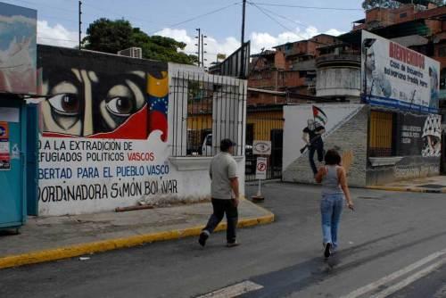 Pintada a favor de ETA en Caracas