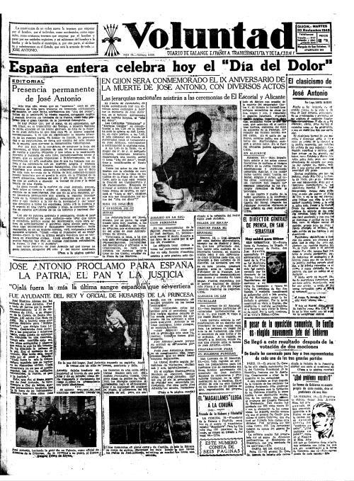 Portada VOLUNTAD 20 de noviembre de 1945