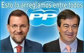 Mariano Rajoy y Francisco Álvarez-Cascos. Esto lo arreglamos entre todos. PP