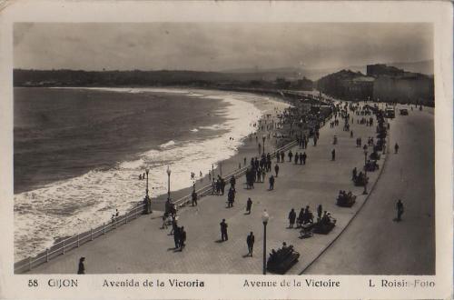 Tarjeta postal L. Roisin: Avenida de la Victoria