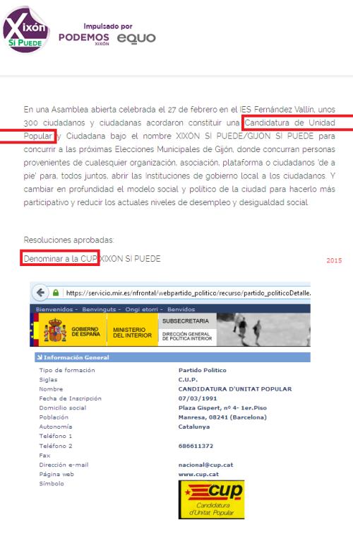 CUP «Xixón» y CUP «Països Catalans»