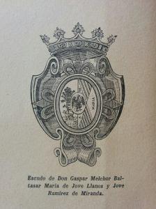Escudo de don Gaspar Melchor de Jovellanos