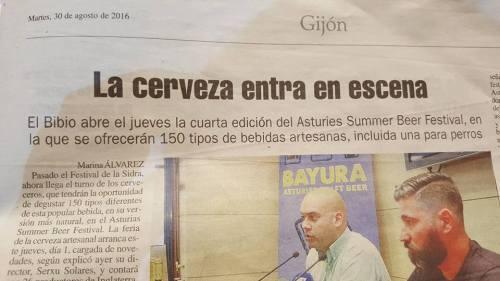 La Nueva España 30 de agosto de 2016
