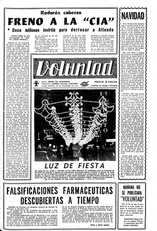 Pulse sobre la imagen para leer esta última página. Sí, es 1974. Franco todavía vivía y gobernaba... Lean, lean y sorpréndanse.