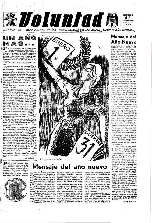 Voluntad 1 de enero de 1939